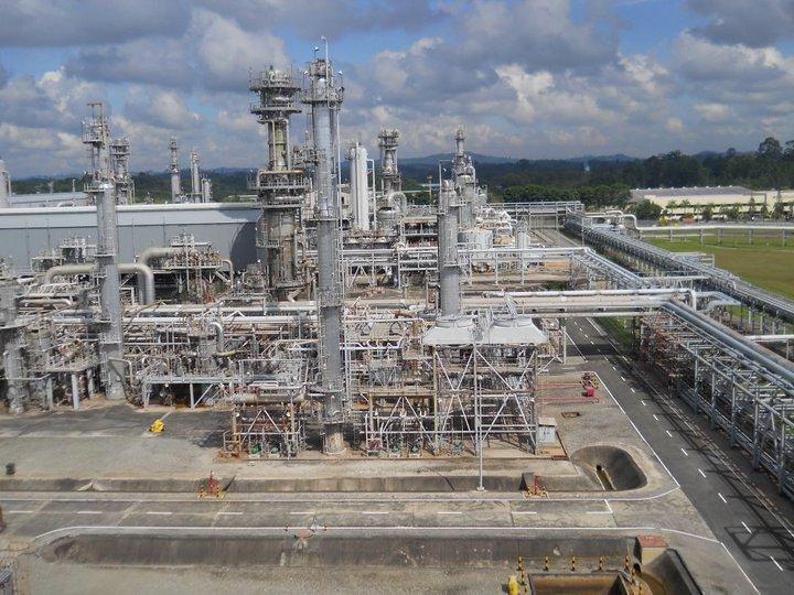 Badak Natural Gas Liquefaction (NGL) process plant site, Bontang, East Kalimantan