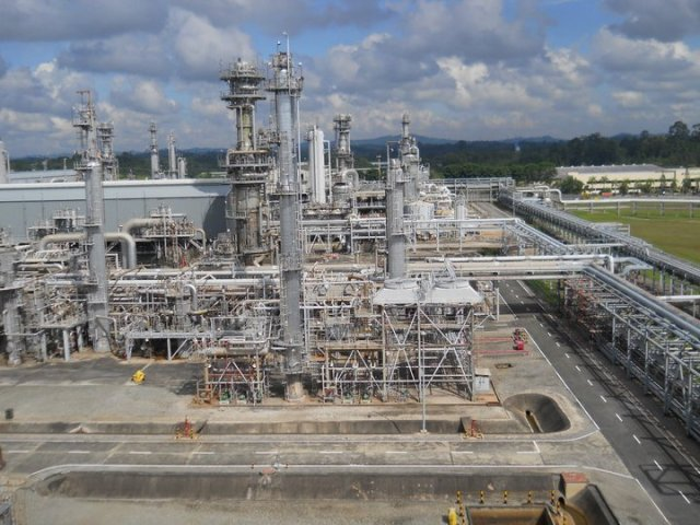 Badak Natural Gas Liquefaction (NGL) process plant site, Bontang, East Kalimantan