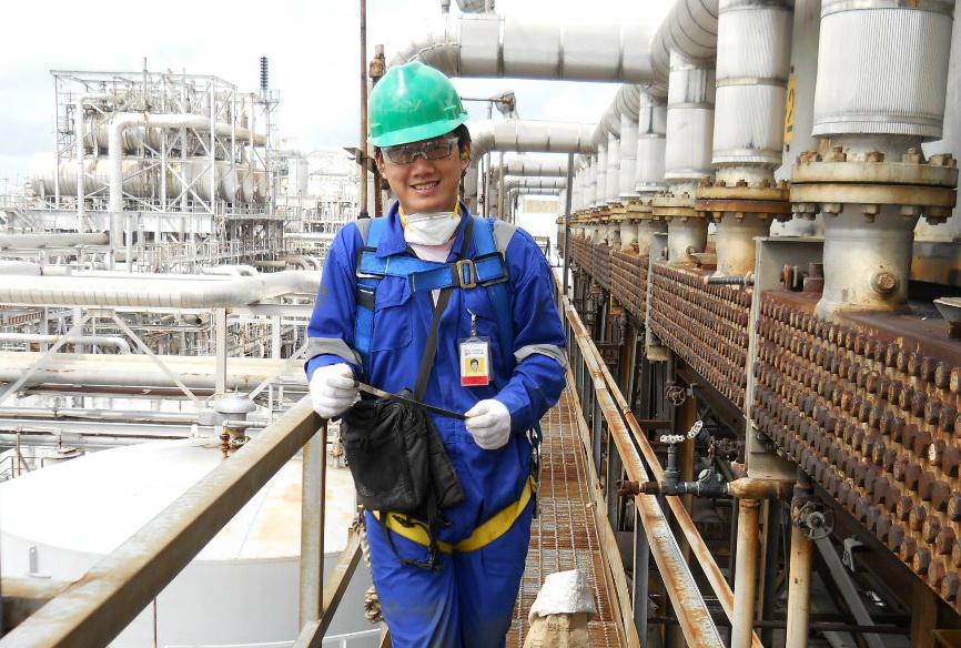 During project working at PT Badak NGL, Bontang, East Kalimantan (June - July, 2011)