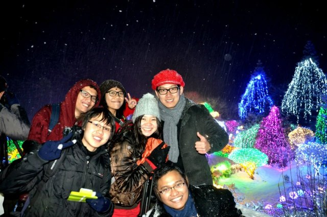 Winter weekend with dormitory friends at The Garden of Morning Calm