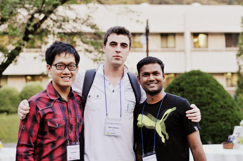 My friends from Ukraine (middle) and India (right)