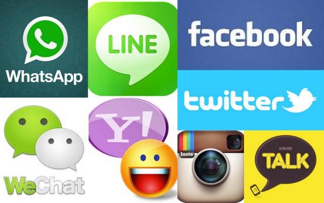 Berbagai macam media sosial yang sedang populer sekarang ini.