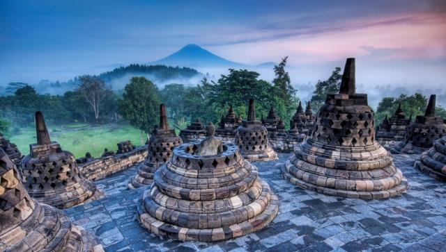 Candi Borobudur, Magelang, Jawa Tengah.