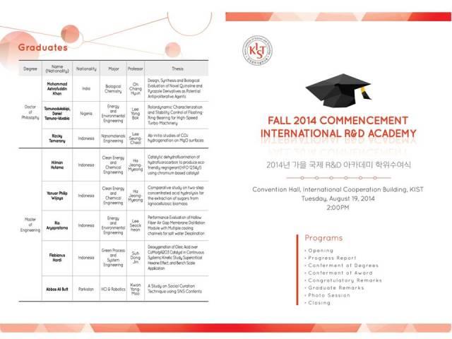 2014 KIST Fall Graduation (1)