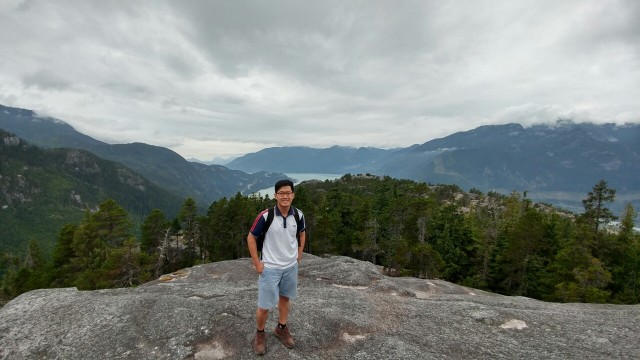 My very first hiking experience at British Columbia: Stawamus Chief.