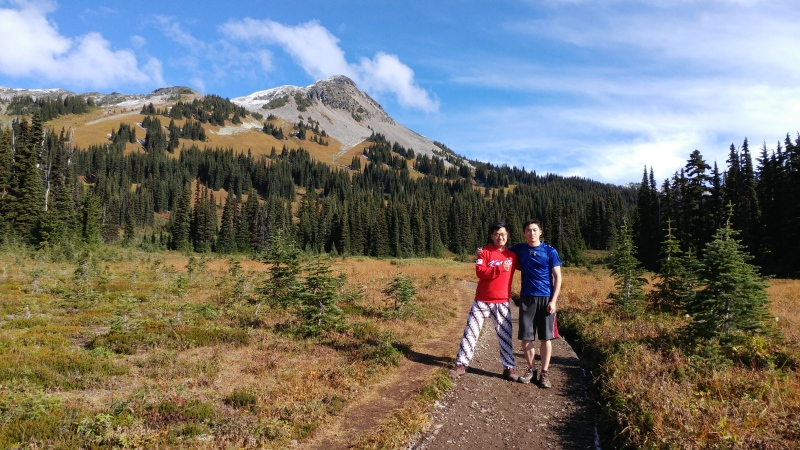 Me and Kwan during the hiking day to Panorama Ridge, Garibaldi Provincial Park
