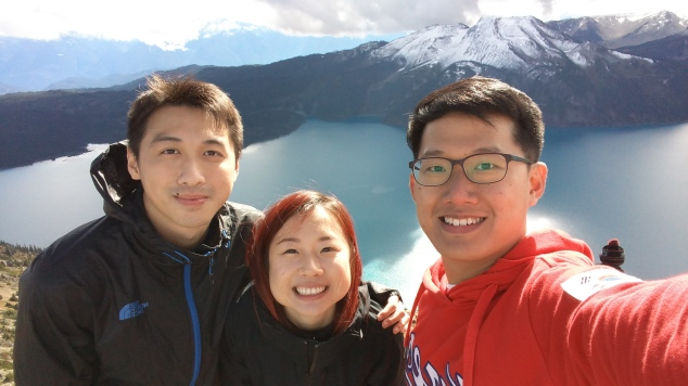 Here we are! Kwan, Christine, and me at the top of Panorama Ridge.