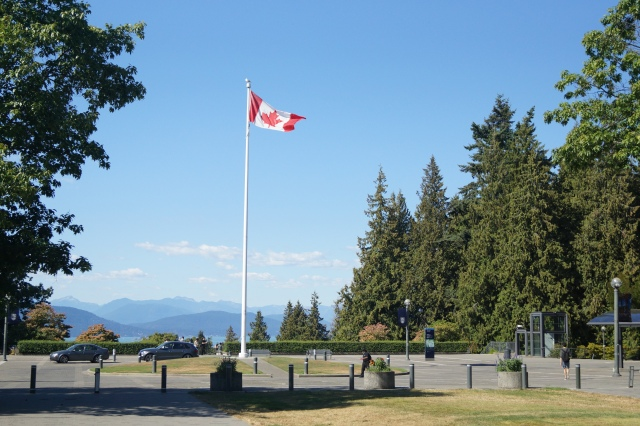 Canadian flag at UBC