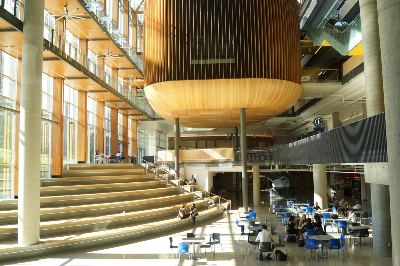 UBC Student Nest, a very nice place to meet up and enjoy food together with friends.
