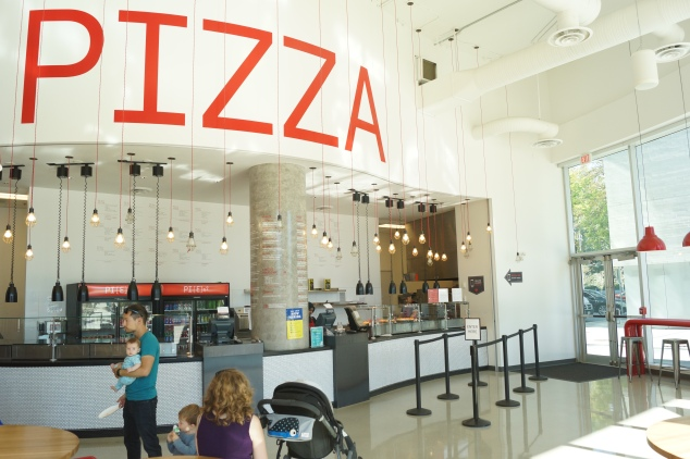Pizza cafe at UBC Nest, the place I usually go for instant lunch or dinner