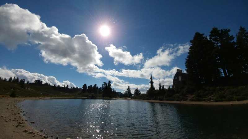 Here is our destination in my second hiking experience: Elfin Lake.