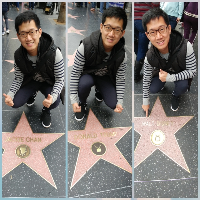 Along the Walk of Fame. Which one is your favorite? (Photographed by my uncle)